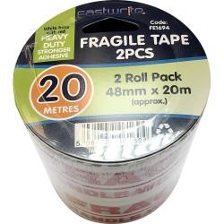 2 Pcs Fragile Tape