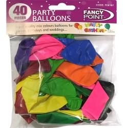 40 Pcs Coloured Balloons