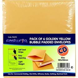6 Pack Padded Envelope (CD)