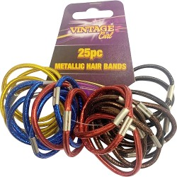 25 Pcs Metallic Hair Bands