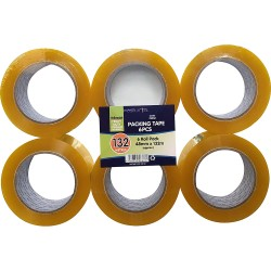 6 Pack 132 Metre Clear Tape
