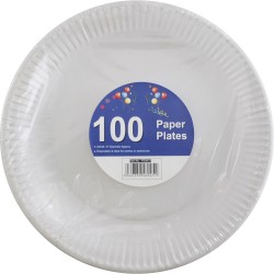 100-Pack High Quality Extra Strong Disposable Paper Plates Microwave Safe