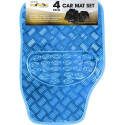 Blue Shiny Car Mat Set