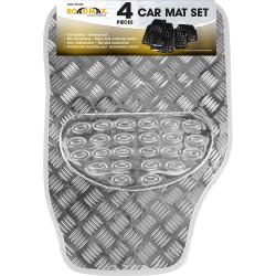 Grey Shiny Car Mat Set