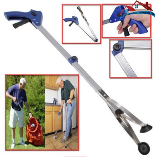 NEW EXTENDING GRABBER ARM LITTER PICKER CLAW PICK UP RUBBISH HELPING HAND