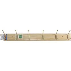 6 Hooks Wooden Hanger For Coats, Jackets, Jumpers, Keys.