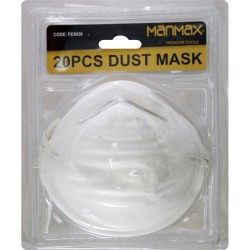 20 Pack Disposable Dust Mask Nuisance Breathe Protection DIY White Face Cover