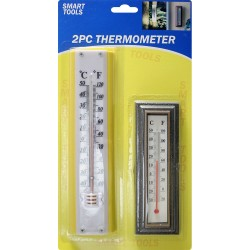 NEW 2PC THERMOMETER INDOOR & OUTDOOR WALL HANGING ROOM TEMPERATURE HEAT