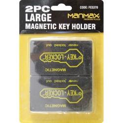 2 LARGE MAGNETIC KEY HOLDER HOME OFFICE SAFE BOX CAR BOAT SPARE KEYS HIDING