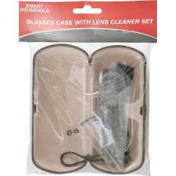 GLASSES CASE WITH LENS CLEANER SET CLOTH & SCREW DRIVER REPAIR COMPLETE