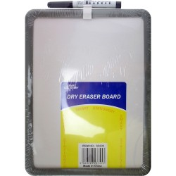 A4 SIZE DRY WIPE WHITEBOARD MEMO NOTE NOTICE BOARD MAGNETIC MOUNT AND PEN
