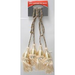 3 Pcs Curtain Tie Back (Gold)