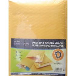 4 Pack Bubble Padded Envelope (D)