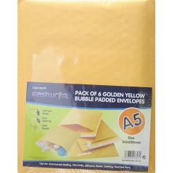 6 Pack Bubble Padded Envelope (A5)