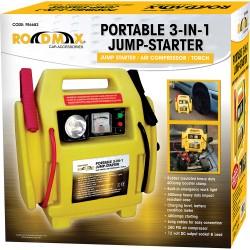Portable 3-in-1 Jump Starter