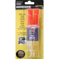 LOCK STICK BOND EPOXY ADHESIVE GLASS PLASTIC REPAIR WOOD LEATHER CERAMIC
