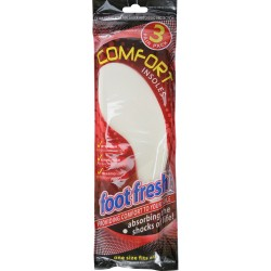 NEW 3 PAIR UNISEX ODOUR CONTROLL COMFORT INSOLES EXTRA OBSORBING BOOT SHOE CARE