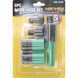 5 Pcs Basic Utility Hose Pipe Fittings Hose Set