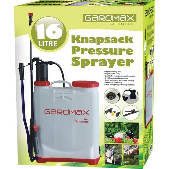 16 Litre Knapsack backpack sprayer chemical pressure garden for water weed killer