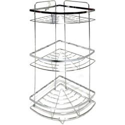 3 Tier Chrome Shower Caddy Bath Corner Shelf, Bathroom, Shower