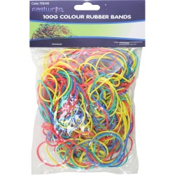New 100g Super Quality Elastic Rubber Bands Assorted Sizes And Colours