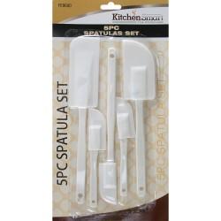 5Pc Plastic Mixing Spatulas baking Cooking Cake Set Kitchen Utensils Icing Tools
