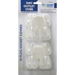 10Pc Plug Socket Cover Baby Proof Child Safety Protector Guard Mains Electrical